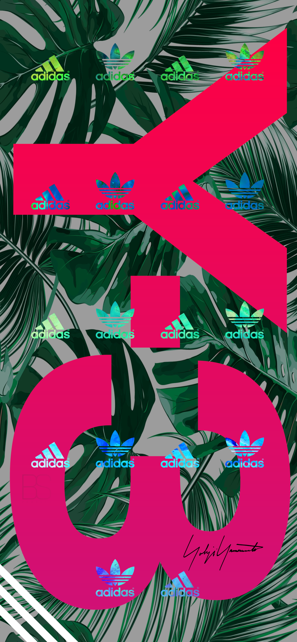 Adidas iPhone X Series wallpaper