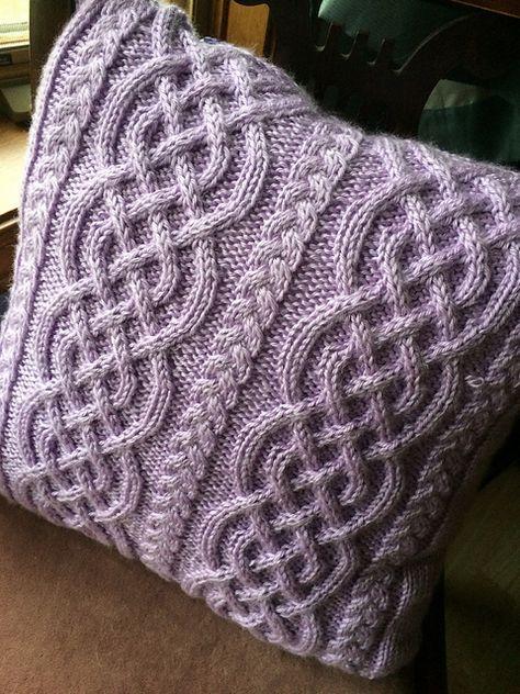 Celtic Knit Aran Pillow | Knitting patterns free, Knitting ...