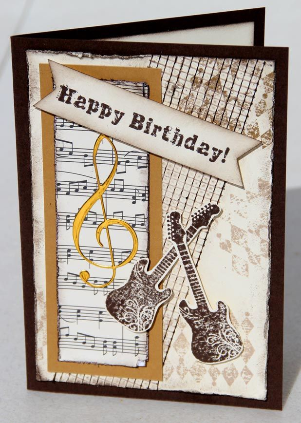 Male Or Musicians Birthday Card Musical Cards Birthday Cards