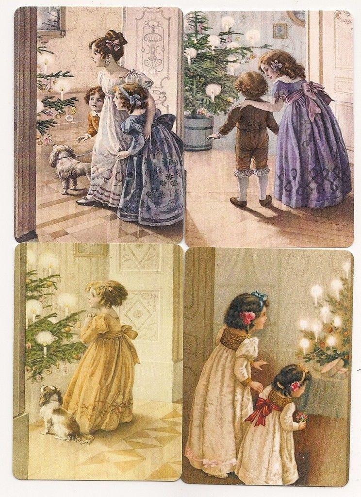 Swap Playing Cards 4 Single Modern Wide Christmas Children | eBay