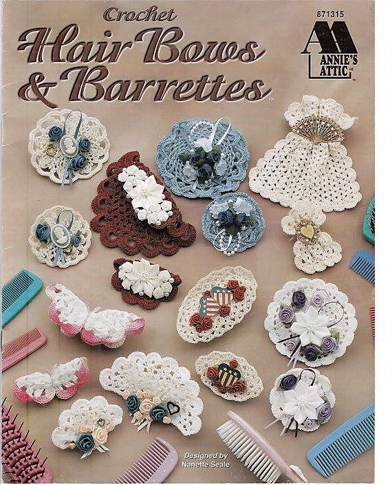 Hair Bows & Barrettes Crochet Pattern Book Annies Attic 87315 ...