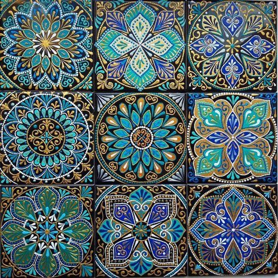 4 Sheets Mosaic Tile Floor 1 12 Scale Vinyl Paper Self Adhesive