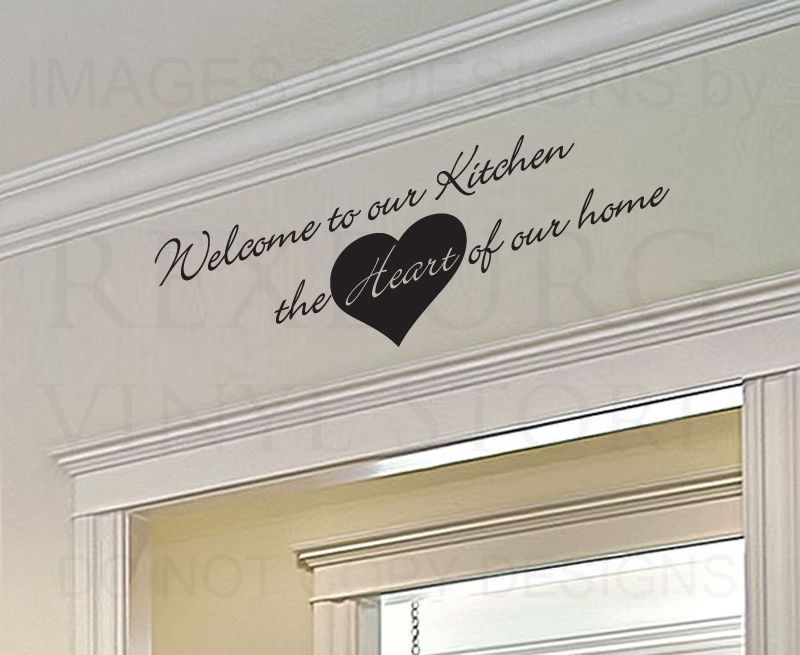 Details About Wall Art Decal Sticker Quote Vinyl Removable Large Welcome To Our Kitchen KI32