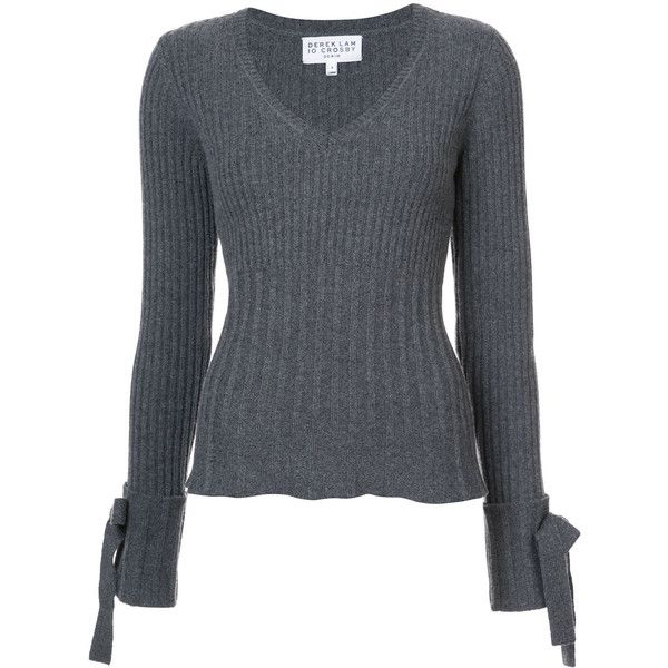 Sweater With Tie Detail - Grey Derek Lam Really Cheap Shoes Online DWlBX