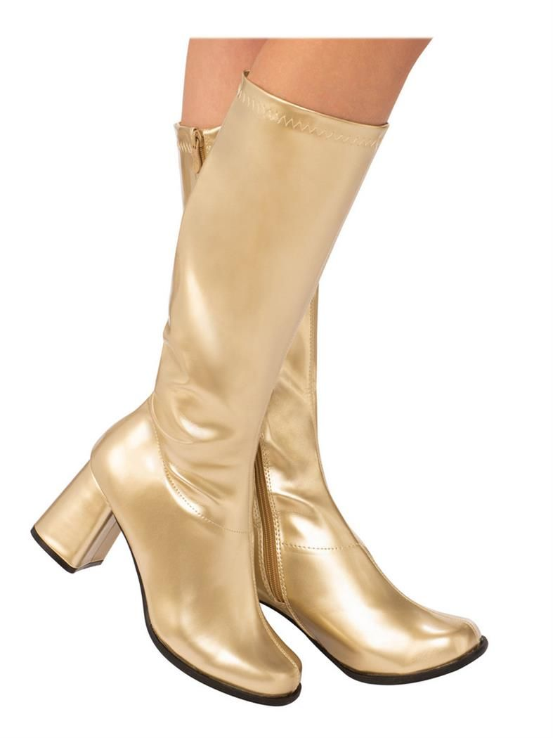 2360a6b6695c7 Charming Adult GoGo Boot Gold. Stylish Collection of Retro Shoes & Boots  for Halloween at PartyBell.