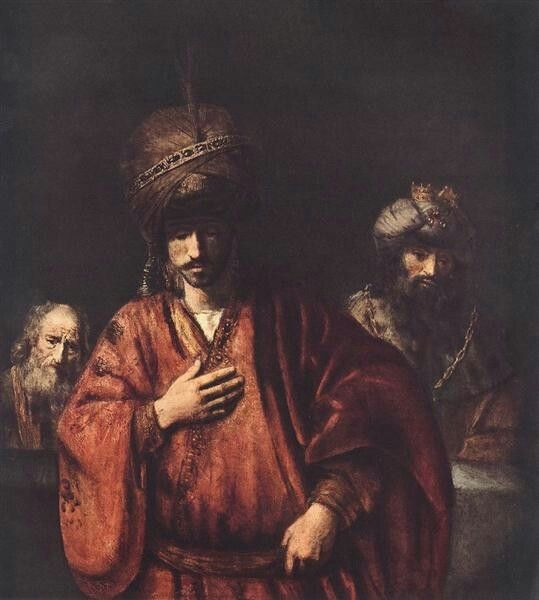 Rembrandt David And Uriah 1665 Hermitage St Petersburg Russia Rembrandt Paintings Baroque Painting Rembrandt