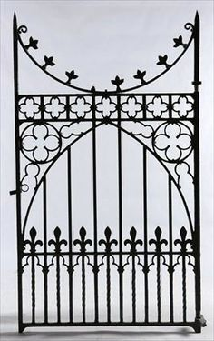 Wrought Iron Railing With Shield Google Search Iron Gate