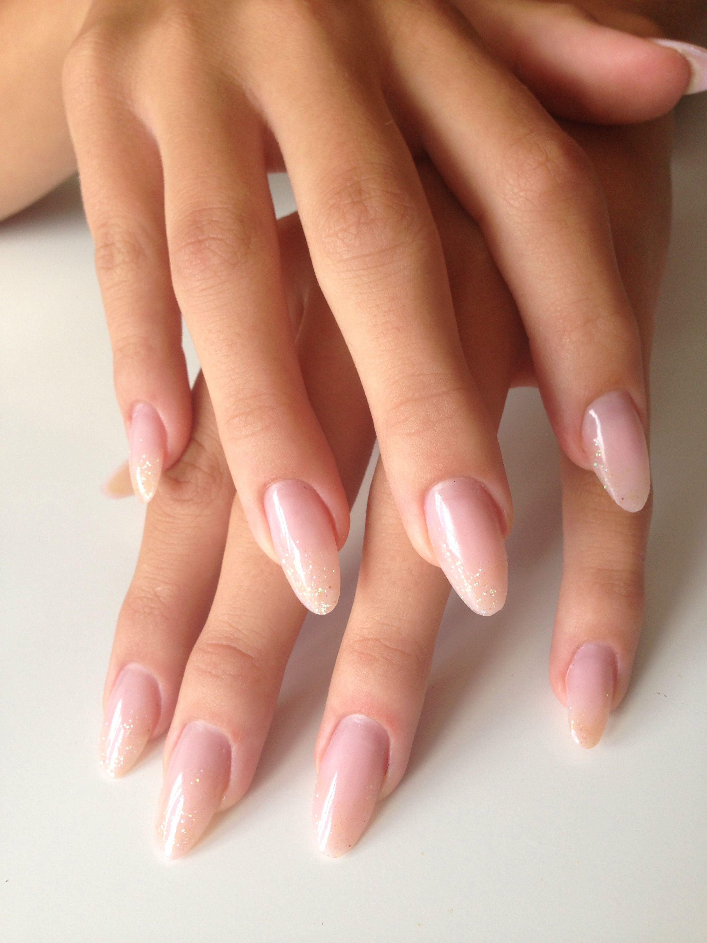 Subtle Glitter Nails Acrylic