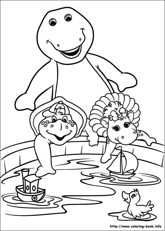 Barney and Friends coloring picture | 3rd Bday party ideas ...