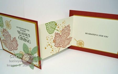 lighthearted leaves z fold by chris slogar cards and paper crafts at splitcoaststampers