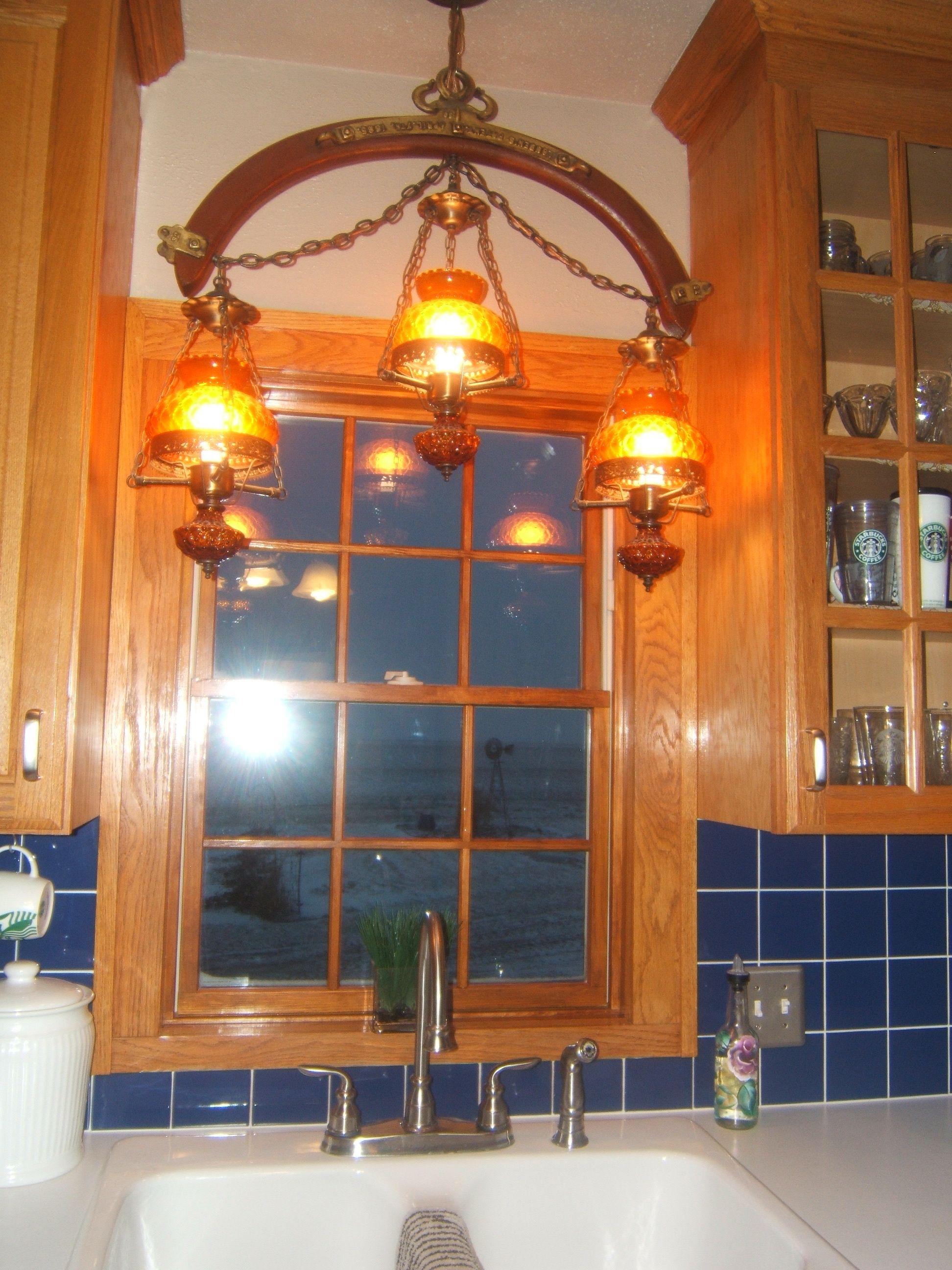 Wood Edison Bulb Chandelier