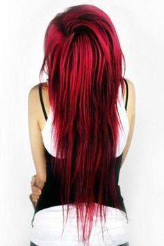 Red Hair With Black Lowlights Google Search Hair Hair Dyed