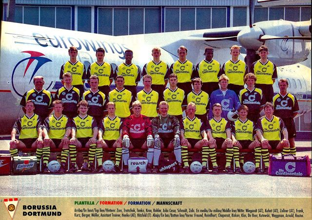 Equipos de fútbol: BORUSSIA DORTMUND Plantilla 1995-96
