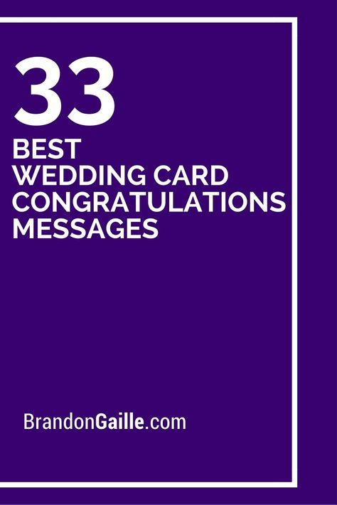35 Best Wedding Card Congratulations Messages Pinterest Wedding