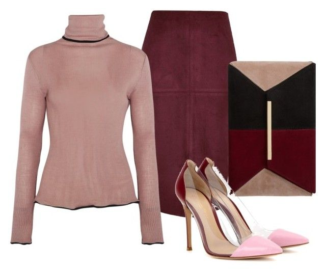 """""""Untitled #2481"""" by theblushingbeauty on Polyvore featuring River Island, Dune, Gianvito Rossi and KÉJI"""