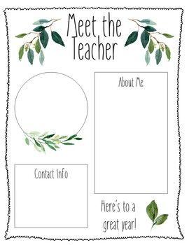 Farmhouse Editable Meet The Teacher Template Freebie #meettheteacherideas