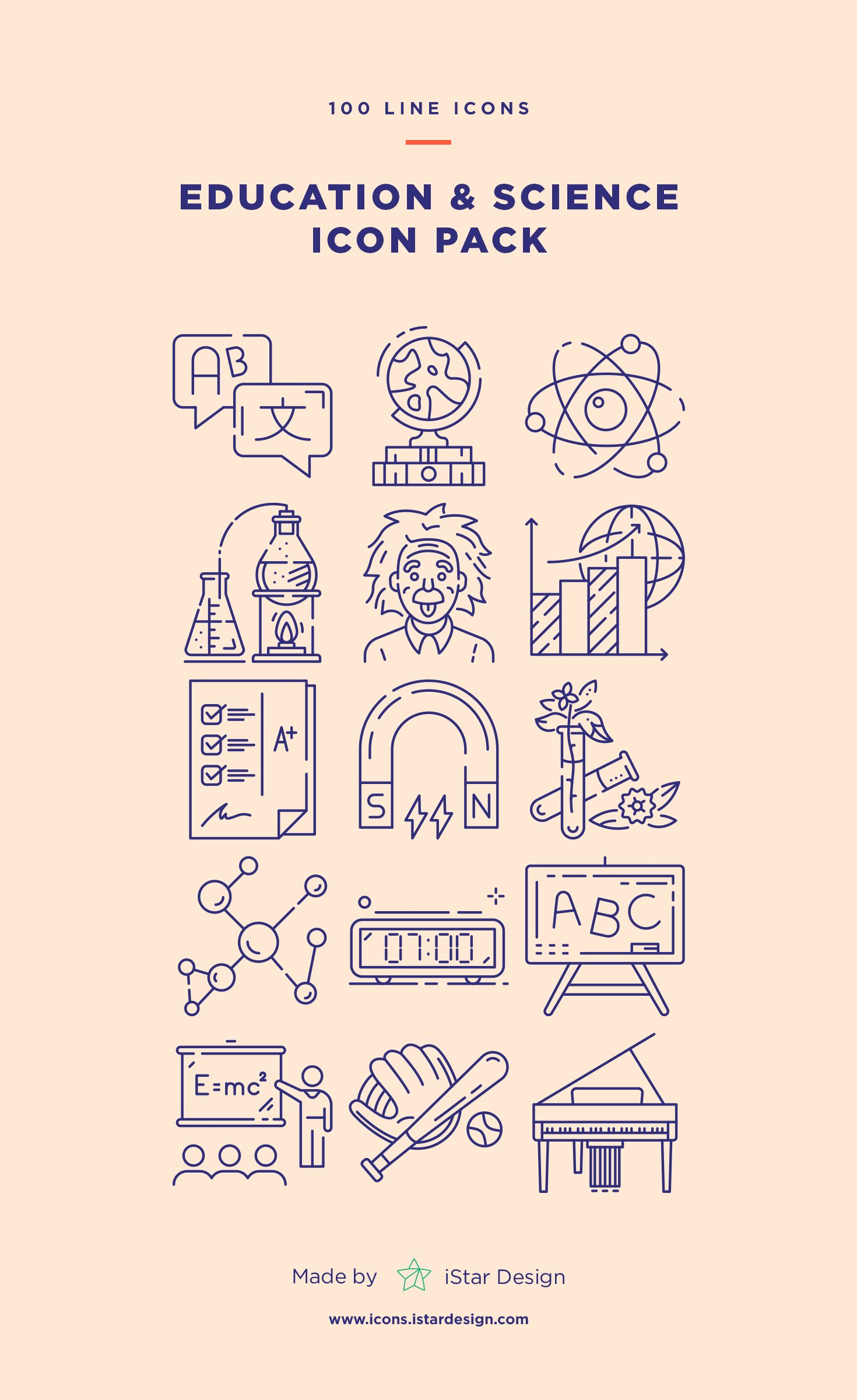 Photo of Education and Science Icons Set