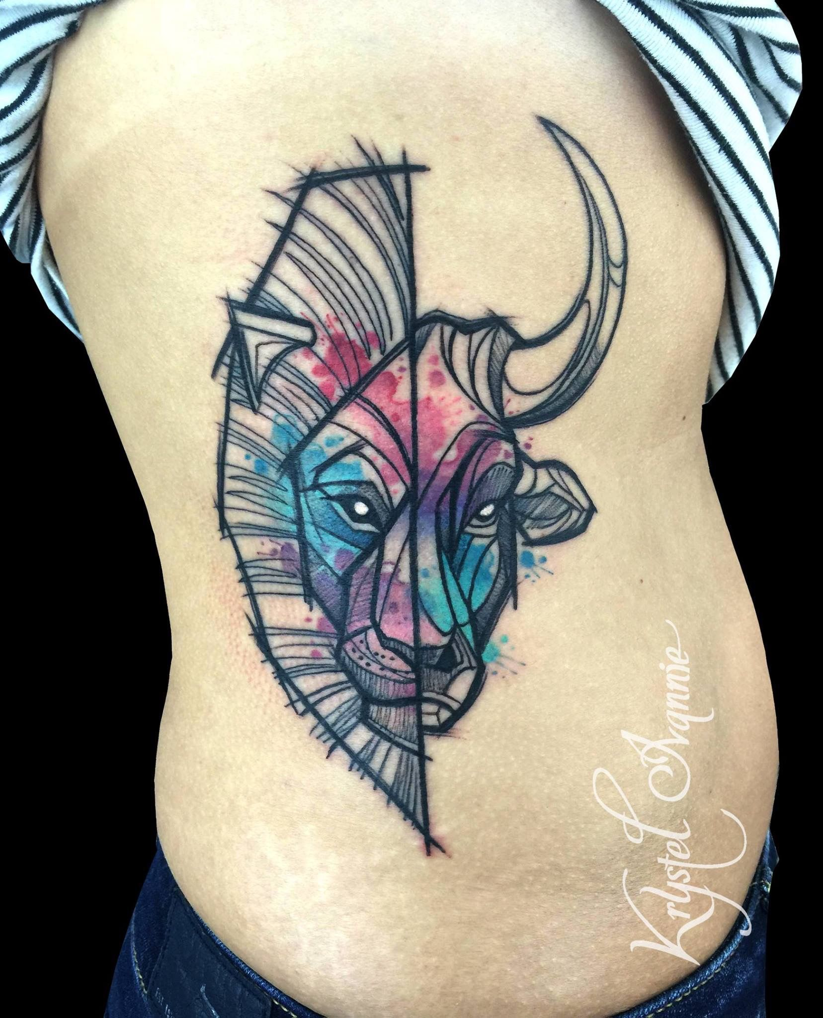72af1a5281534 Leo & Taurus tattoo, but do half Aries half Taurus instead | The ...