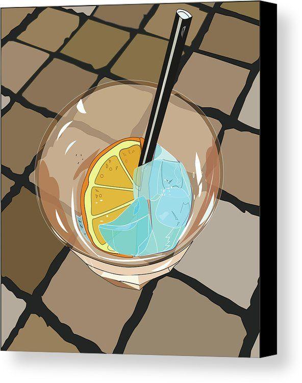 https://fineartamerica.com/products/cocktail-spritz-marina-usmanskaya-canvas-print.html #MarinaUsmanskayaFineArtDigitalArt #CocktailSpritz #ArtForHome
