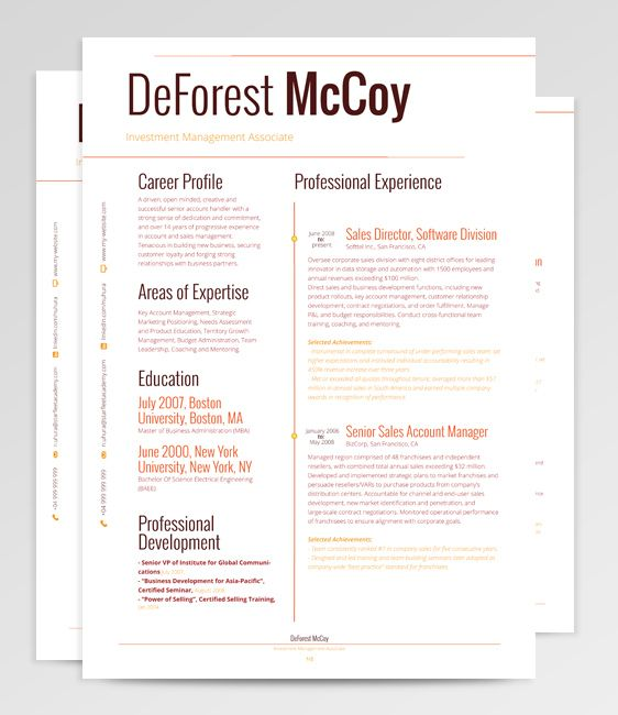 Multicolored Yet Simple Resume Template  Gorgeous Resume