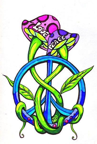peaceshroom tat colored by melissadalton on deviantart