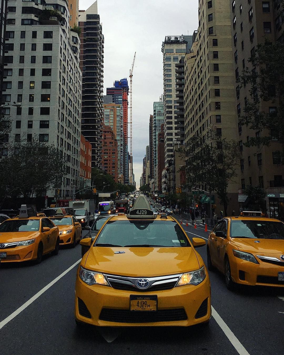 City Streets: Looking up 2nd Avenue by nyc