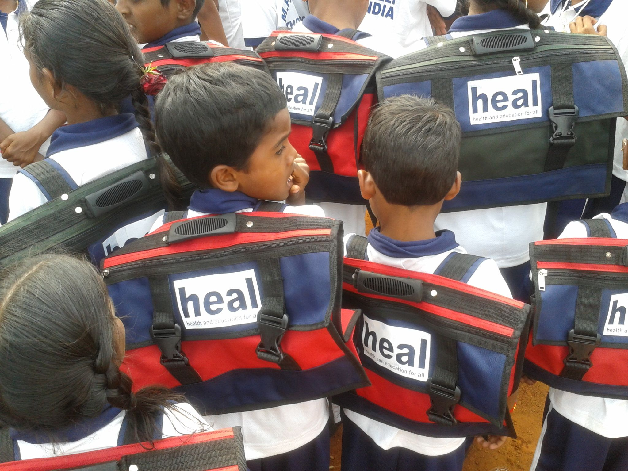 Heal initiatives such as free books bags and equipment
