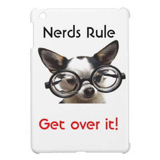 Nerds Rule Get Over it! iPad Mini Case  Funny AND cute