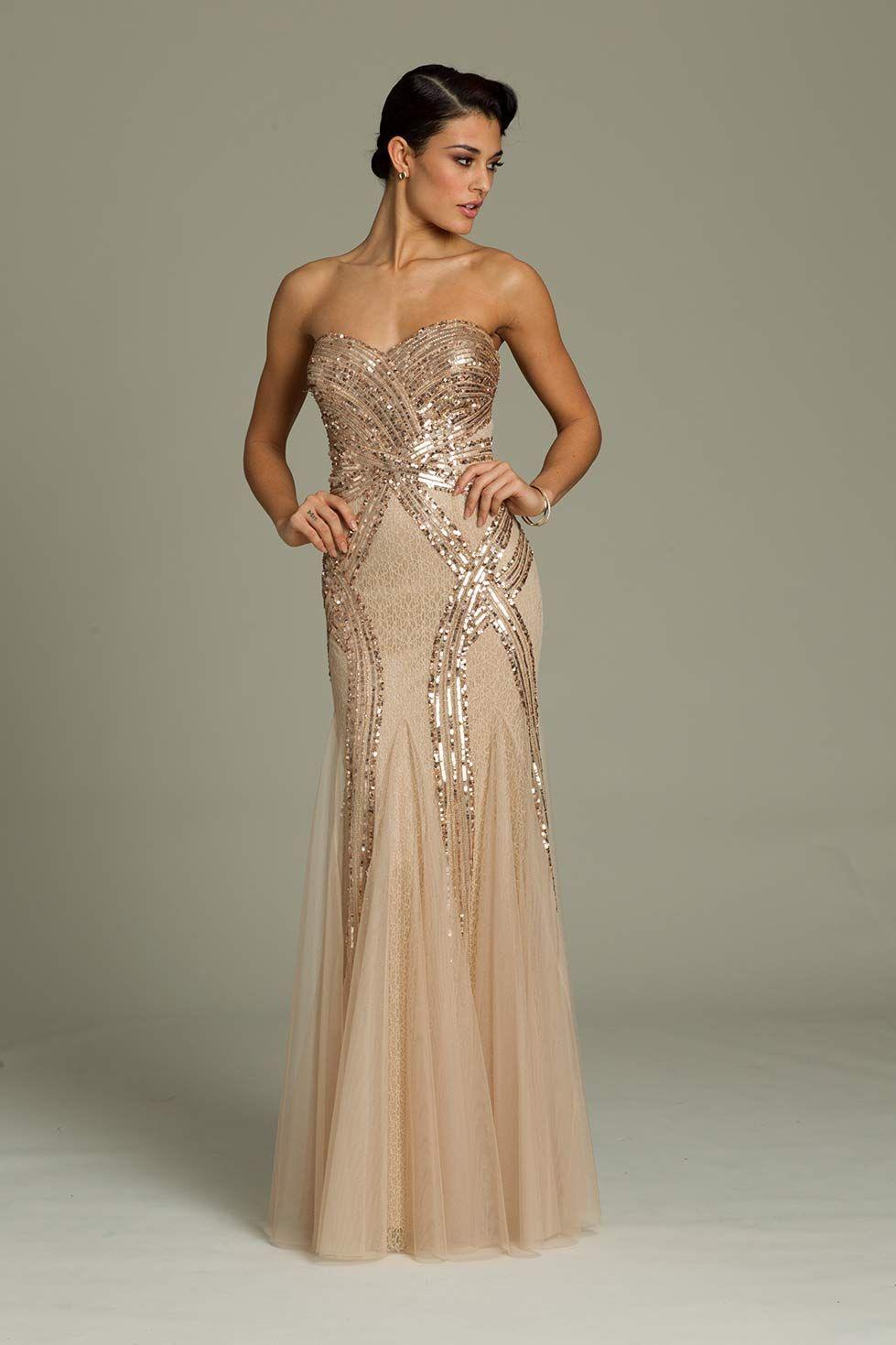 Jovani 88005 // art deco great gatsby wedding dress | Evening Gowns ...