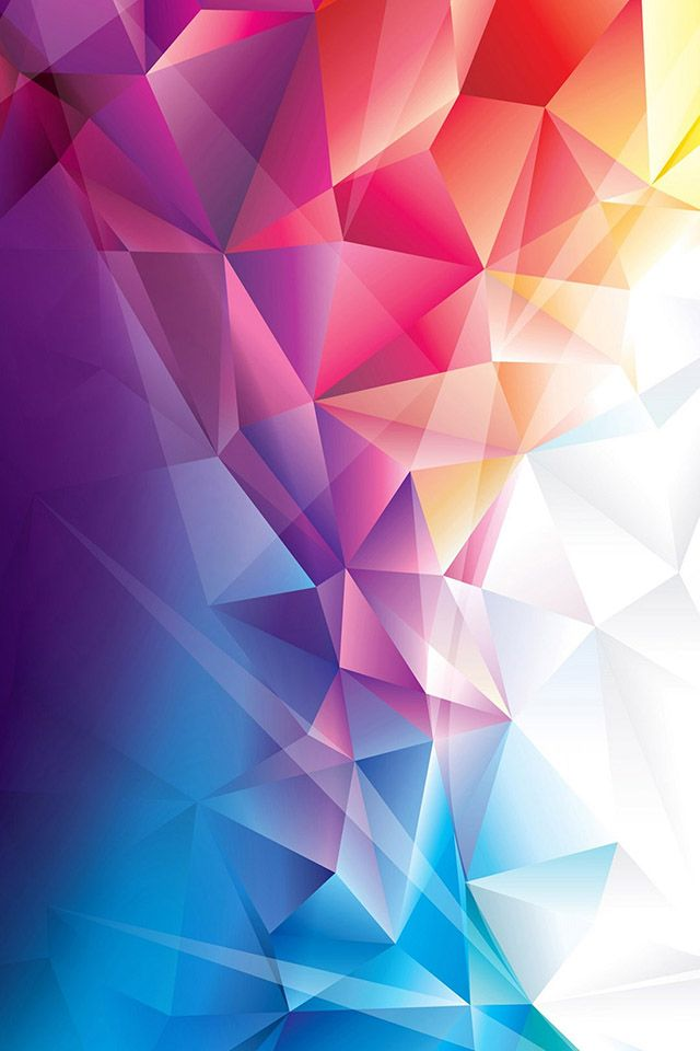 Colorful Polygons Wallpaper Colorful Wallpaper Iphone Wallpaper Abstract