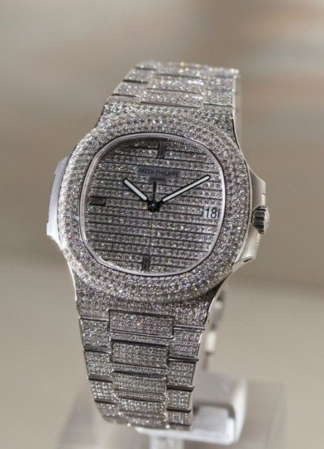 8627e9c388a Patek Philippe  NEW  Nautilus Mens White Gold Diamond 5719 1G  (Retail HK 1