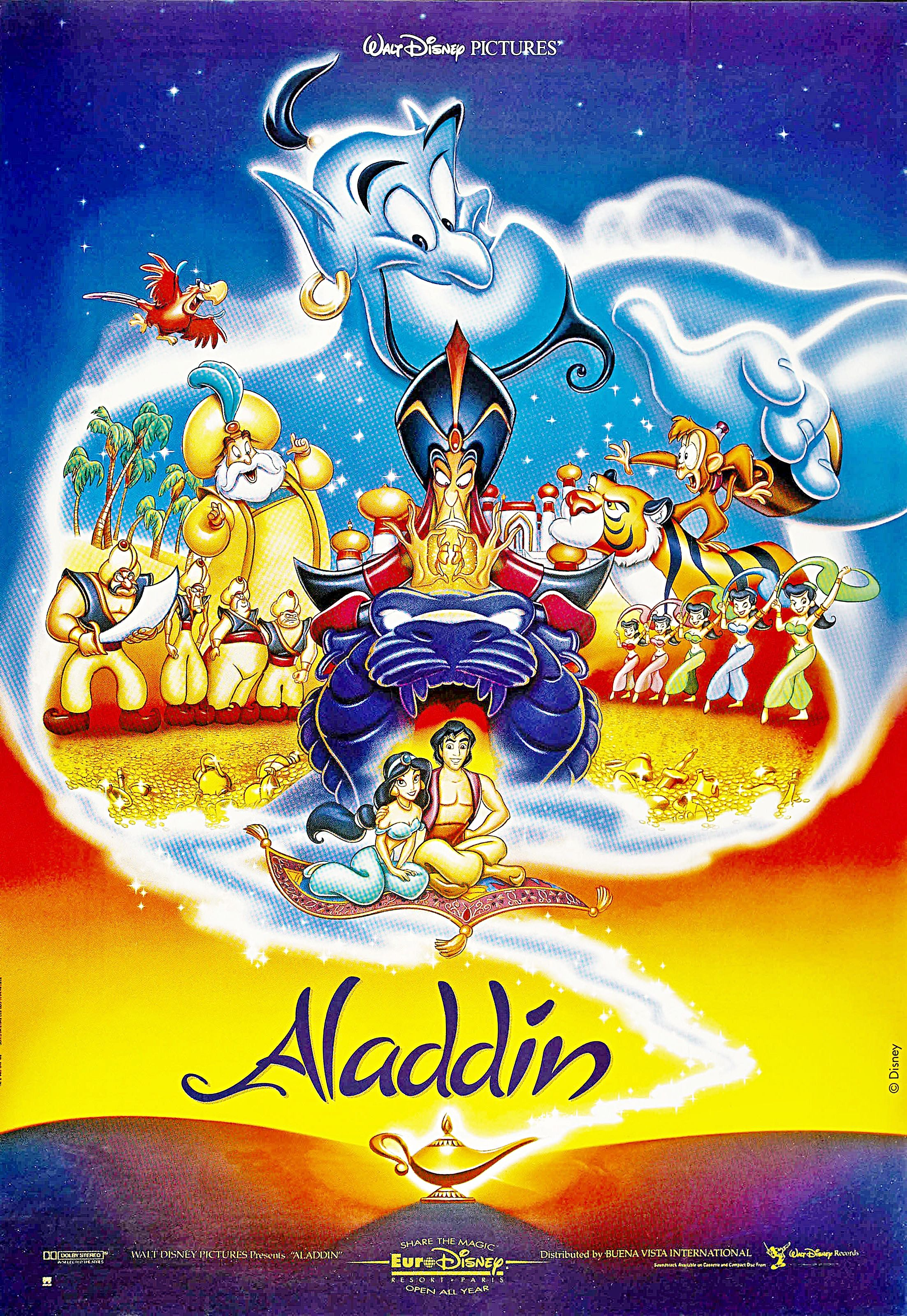 Walt Disney Posters Aladdin Films dessins animés