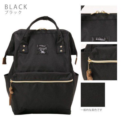 Amazon.com | Japan Anello Backpack Unisex LARGE BLACK Rucksack ...