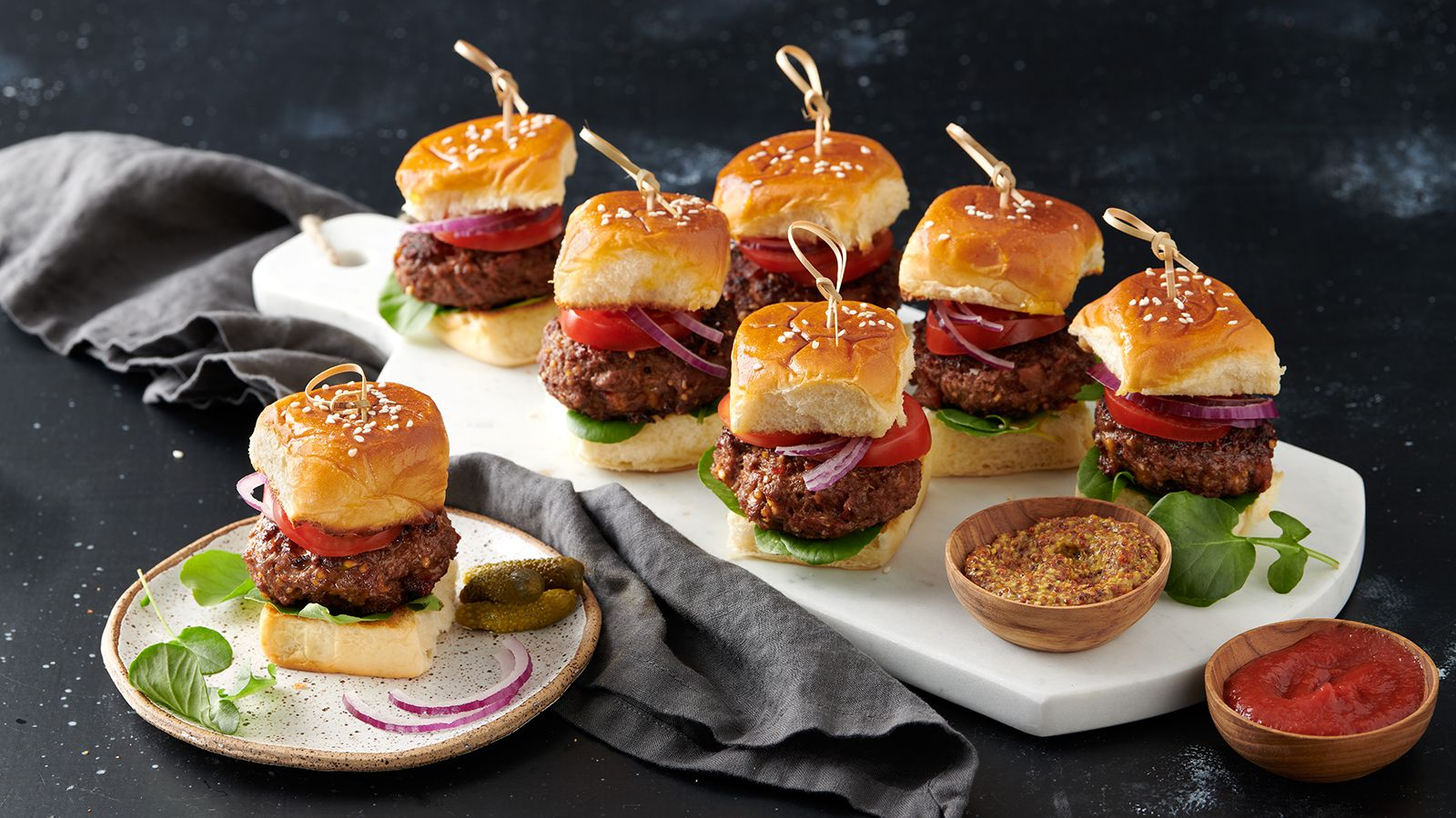 Smokey Cheddar Mini Burgers Recipe The Fresh Market Ingredients And Step By Step Recipe For Smokey Cheddar Mini Mini Burgers Mini Burgers Recipe Recipes