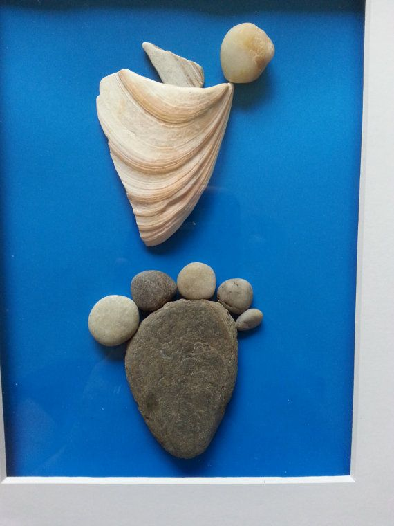 Pebble art rocks art new baby boy gift Baby by madebynatureandme ...