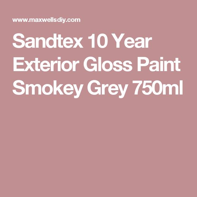 Sandtex 10 Year Exterior Gloss Paint Smokey Grey 750ml | Front door on zinsser exterior paint, dulux exterior paint, glidden exterior paint, gloss exterior paint, crown exterior paint, satin exterior paint, fired earth exterior paint, weathershield exterior paint, rust-oleum exterior paint,