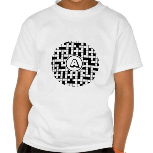 Crossword Puzzle Monogram Shirt more great crossword puzzle themed gifts for your favorite crossword puzzle fan at www.mouseandmarker.com