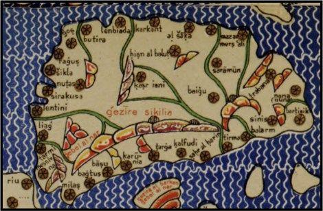 Sicilia. Por Muhammad al-Idrisi.