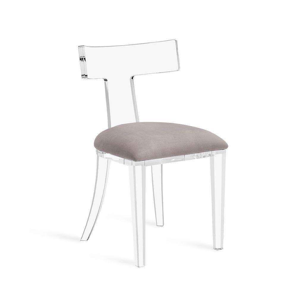 Tristan Acrylic Klismos Chair Chair Acrylic Dining Chairs