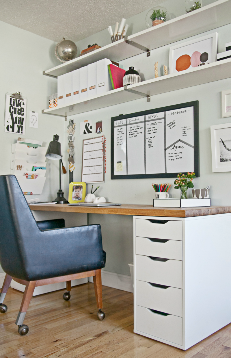 9 Steps to a More Organized Office  Workspaces Bookcases  Home office decor Home office