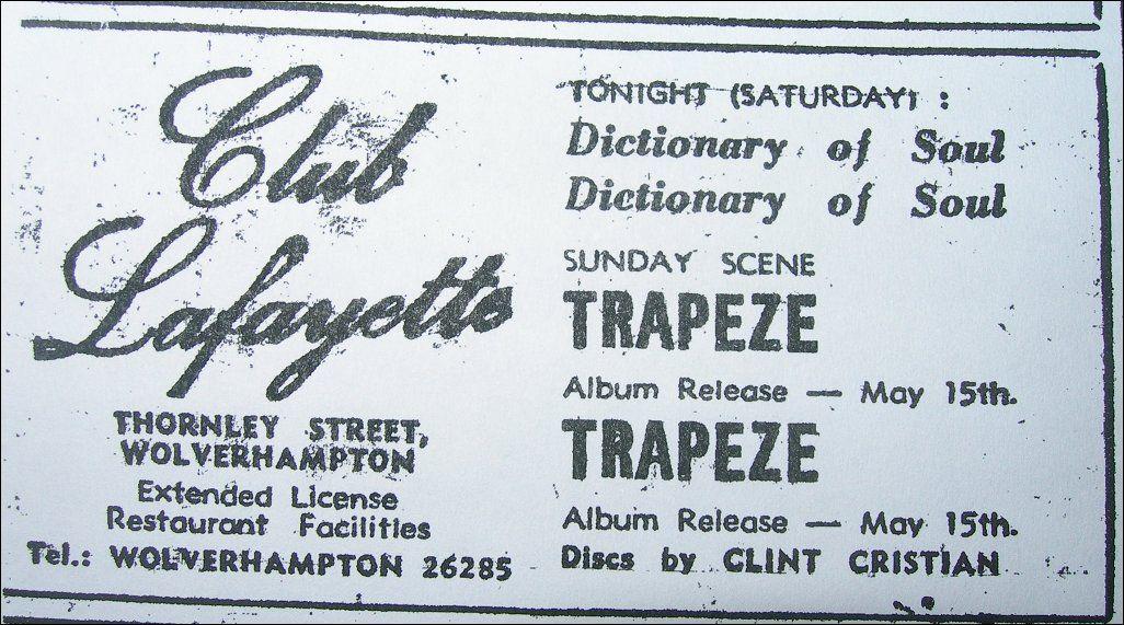 Trapeze ~ Sunday, April 26th, 1970