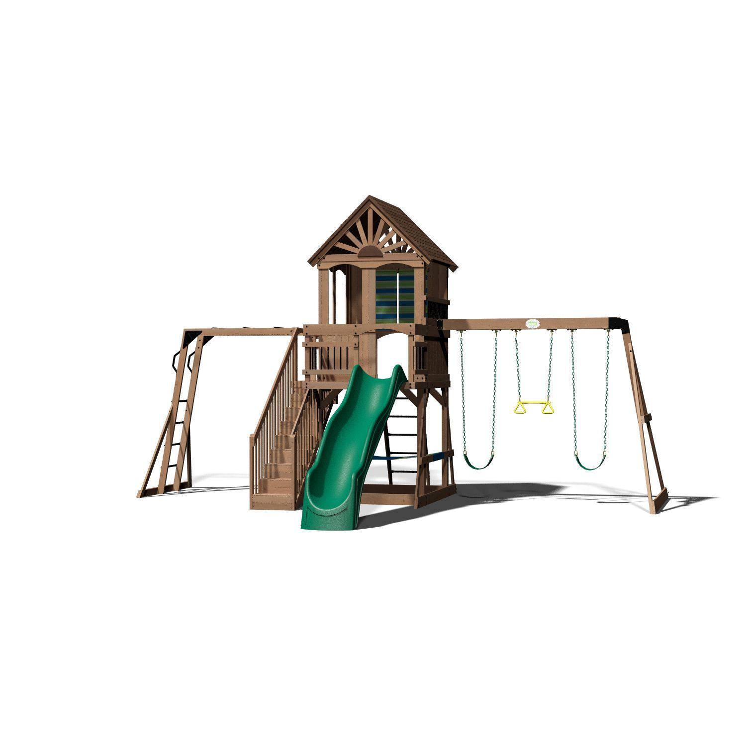Backyard Discovery Oceanview Cedar Swing Set Cedar Swing Sets And