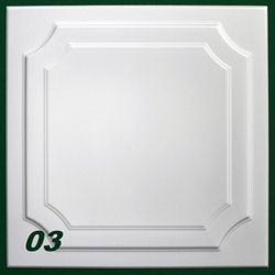 10 m2 Deckenplatten Styroporplatten Stuck Decke Dekor Platten ...