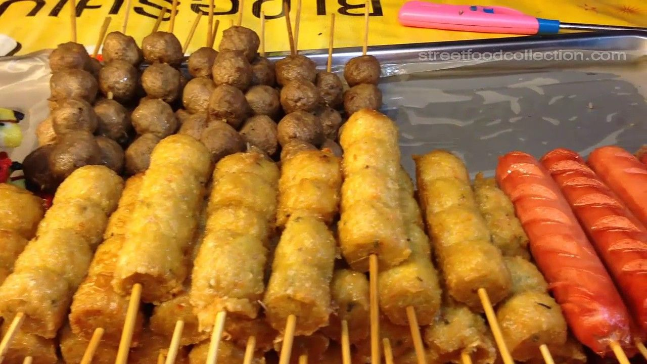Asian street foodstreet food in cambodiakhmer fast food