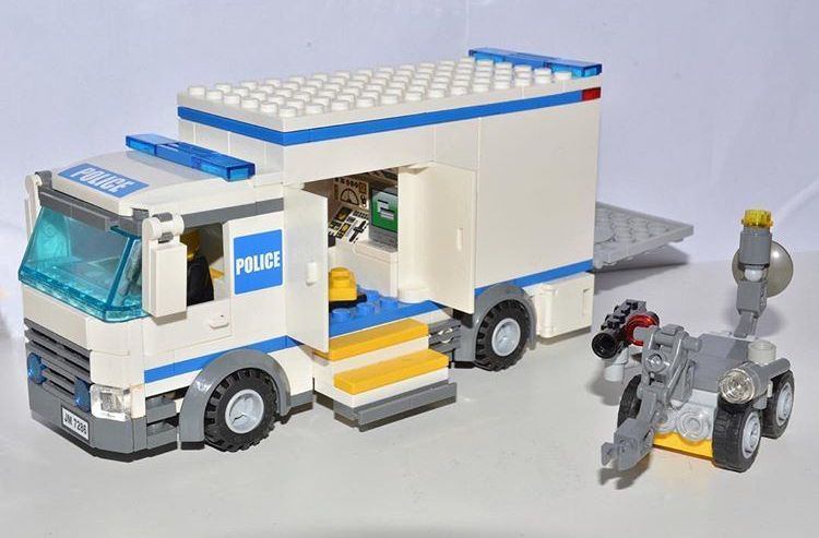 Police Bomb Unit Lego Police Lego Truck Cool Lego