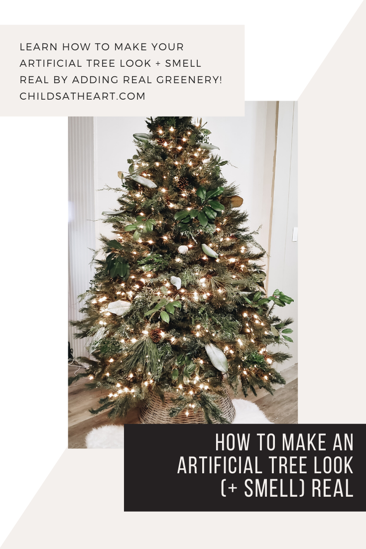 How To Make An Artificial Tree Look Smell Real Childs At Heart Christmas Tree Scent Artificial Tree Real Christmas Tree