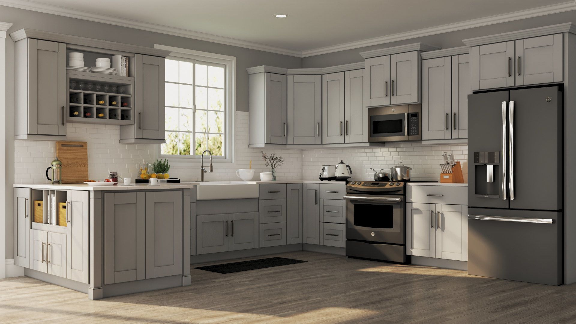 Shop Our Kitchen Cabinets Department To Customize Your Shaker Wall Cabinets In Dove Gray Home Depot Kitchen Kitchen Cabinets Home Depot Kitchen Cabinet Design