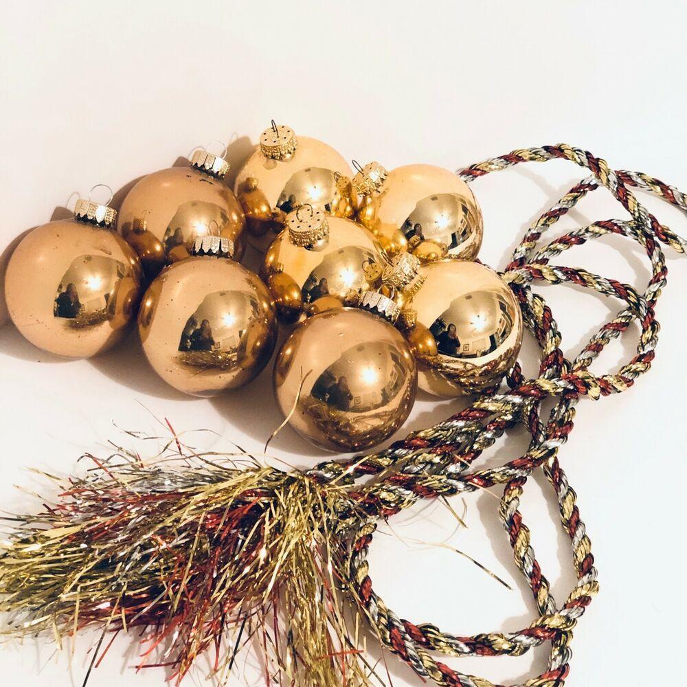 Copper Twist & Glass Bead Decorative