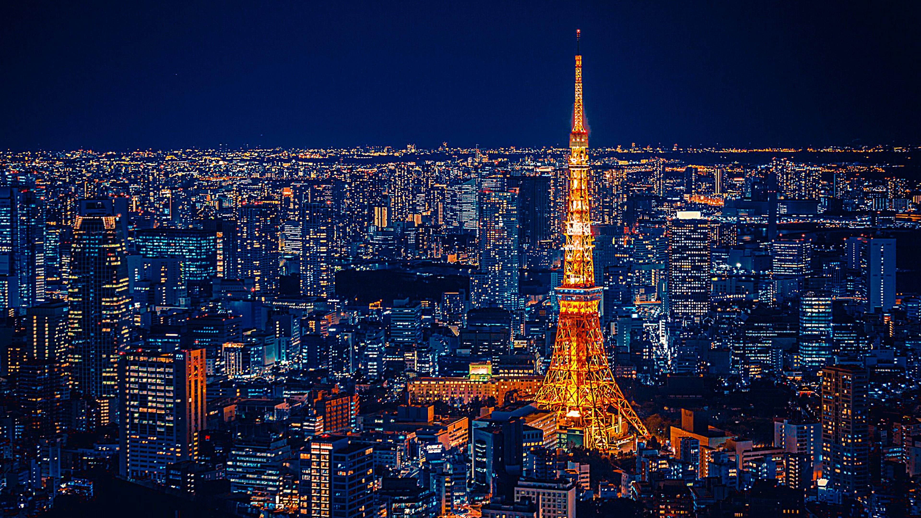 Tokyo Tower City Lights Cityscape Tokyo Tower Tower City
