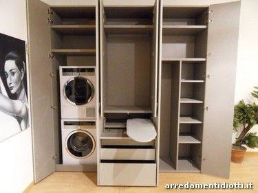 Angolo Lavanderia Stireria : L armadio si trasforma in zona lavanderia stireria e angolo